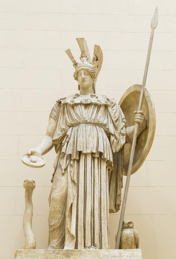 Déesse d'Athena Ancient Greeks ' image stock