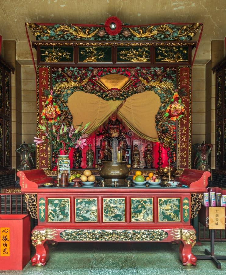 Déesse d'autel de mer chez Tung Shan Temple, Hong Kong China photographie stock libre de droits