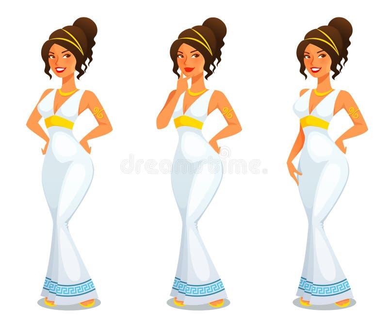 Déesse grecque d'Aphrodite de beauté illustration stock