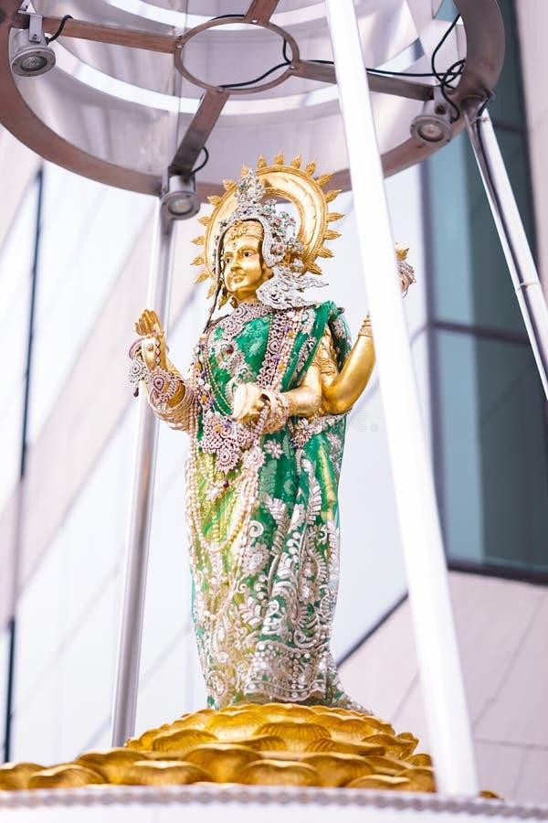 Déesse hindoue Lakshmi est une déesse hindoue pour la richesse, la fortune, la prospérité et la beauté C'est une femme de Vishnu  photo libre de droits