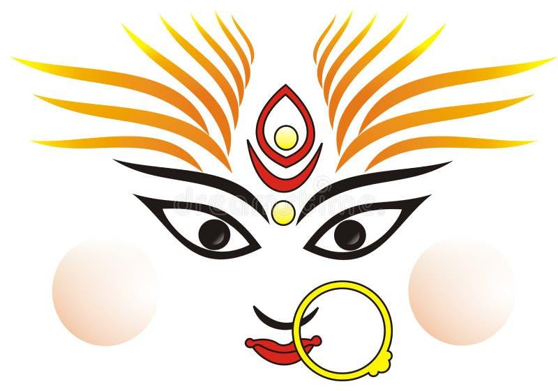 Déesse indienne mA Durga illustration de vecteur