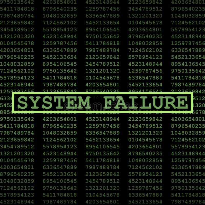 Défaillance du système illustration libre de droits