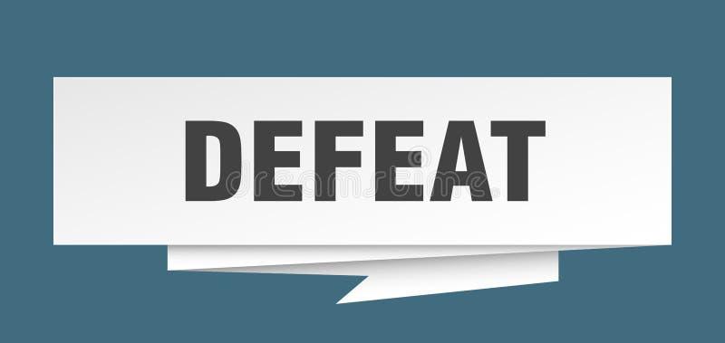 défaite illustration stock