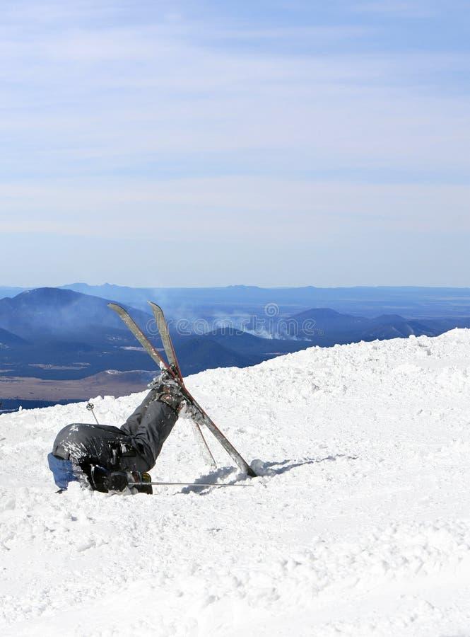 Défaite de skieurs photographie stock
