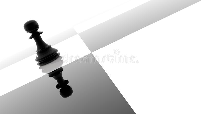 Défaite de victoire de stratégie du noir un de gage - rendu 3d illustration de vecteur