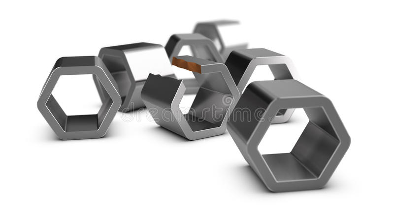 Défaut de fabrication, contrôle de qualité illustration stock