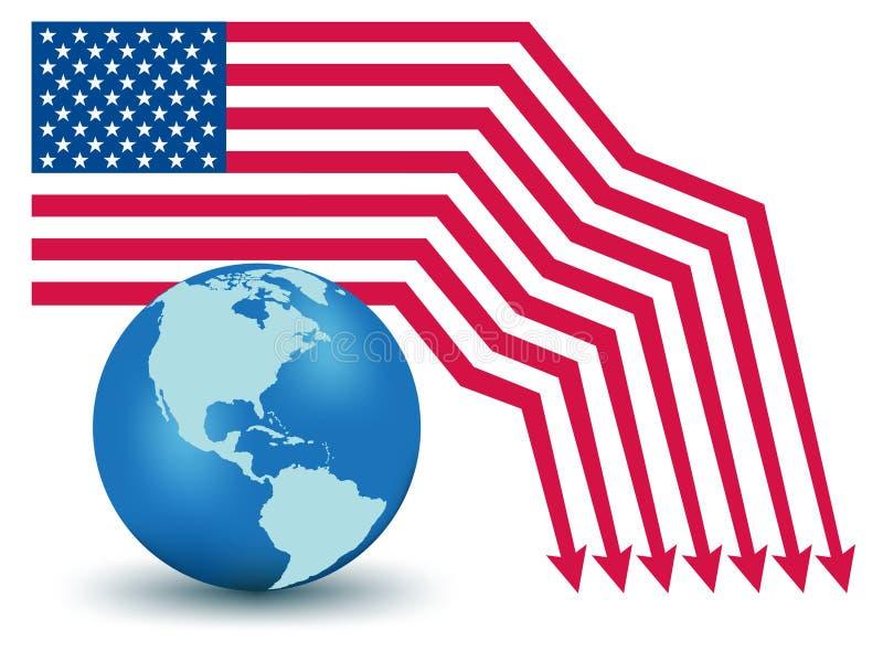 Défaut des Etats-Unis illustration libre de droits