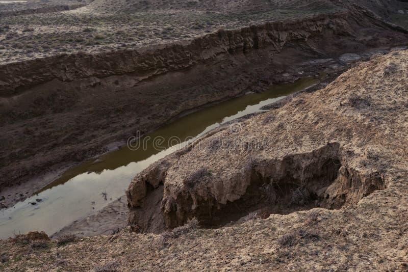 Défauts de la croûte terrestre, conséquence du tremblement de terre photo stock