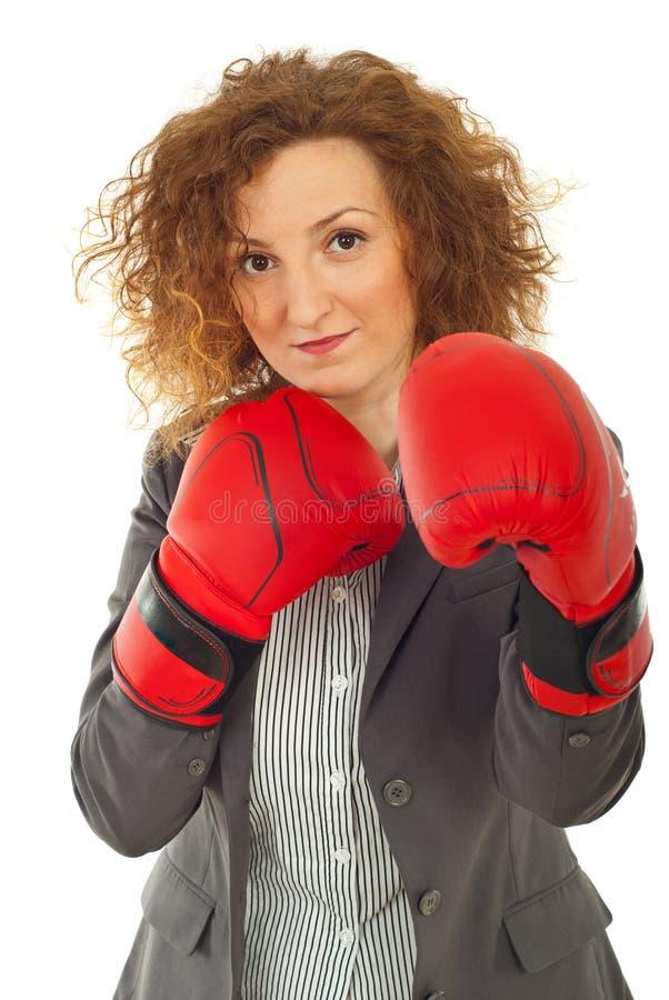 Défense de femme d'affaires image stock