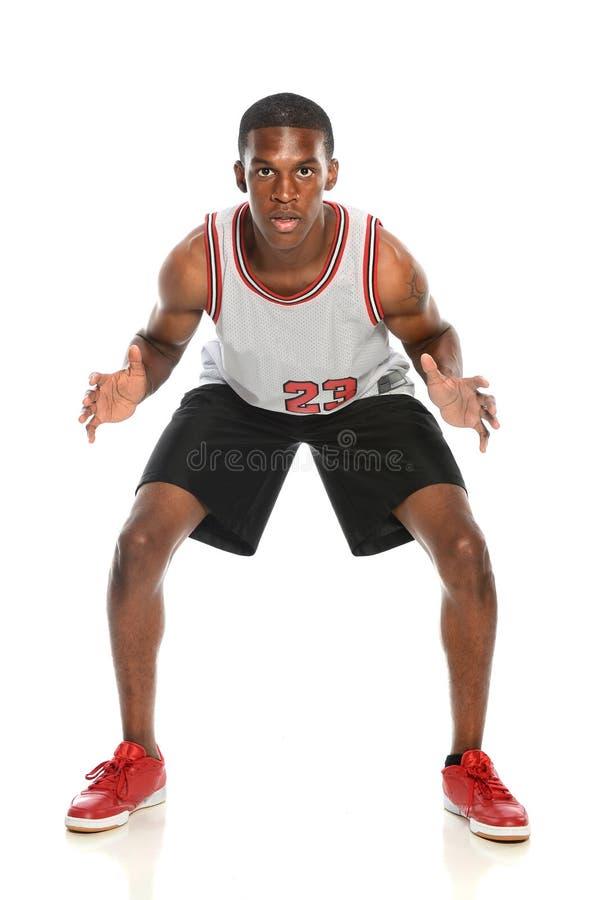 Défense de joueur de basket photos stock