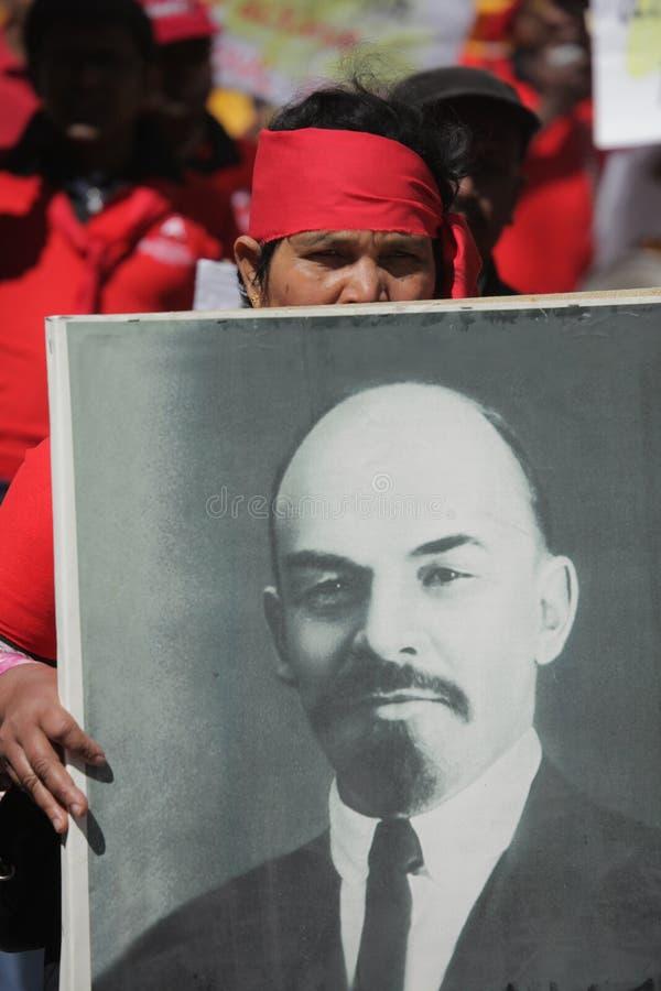 Défenseur de Lénine photo libre de droits