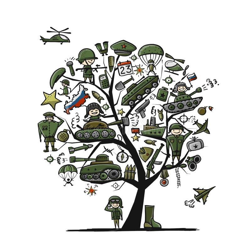 Défenseur heureux de la patrie Vacances nationales russes le 23 février Carte cadeaux pour les hommes Illustration de vecteur illustration libre de droits