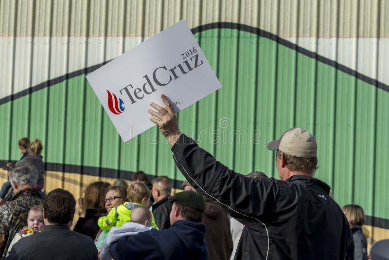Défenseur pour Ted Cruz photographie stock libre de droits
