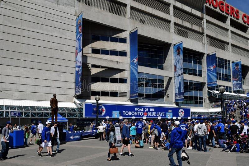 Défenseurs au stade de Toronto Blue Jays, Toronto, Canada photos stock