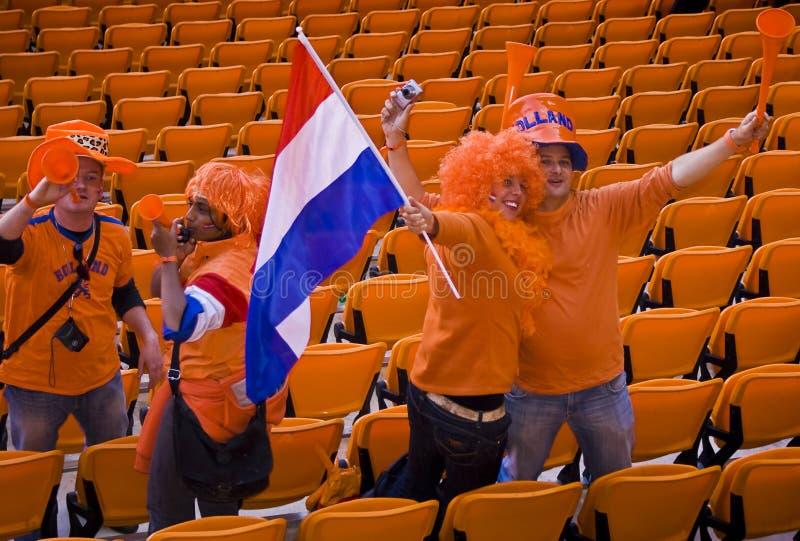 Défenseurs hollandais du football - carte de travail 2010 de la FIFA photos stock