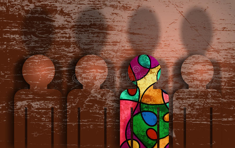 Défi à être différent illustration libre de droits