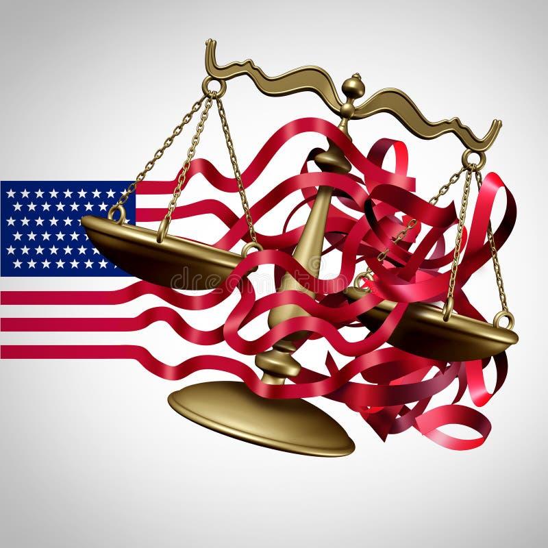 Défi américain de système judiciaire illustration de vecteur
