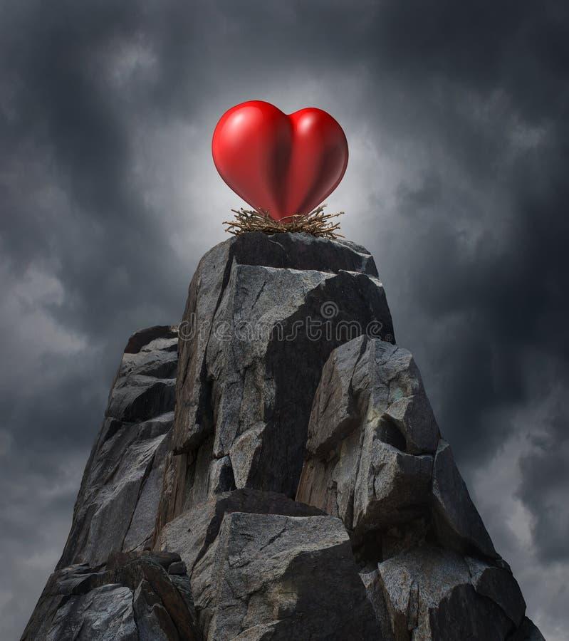 Défi d'amour illustration libre de droits