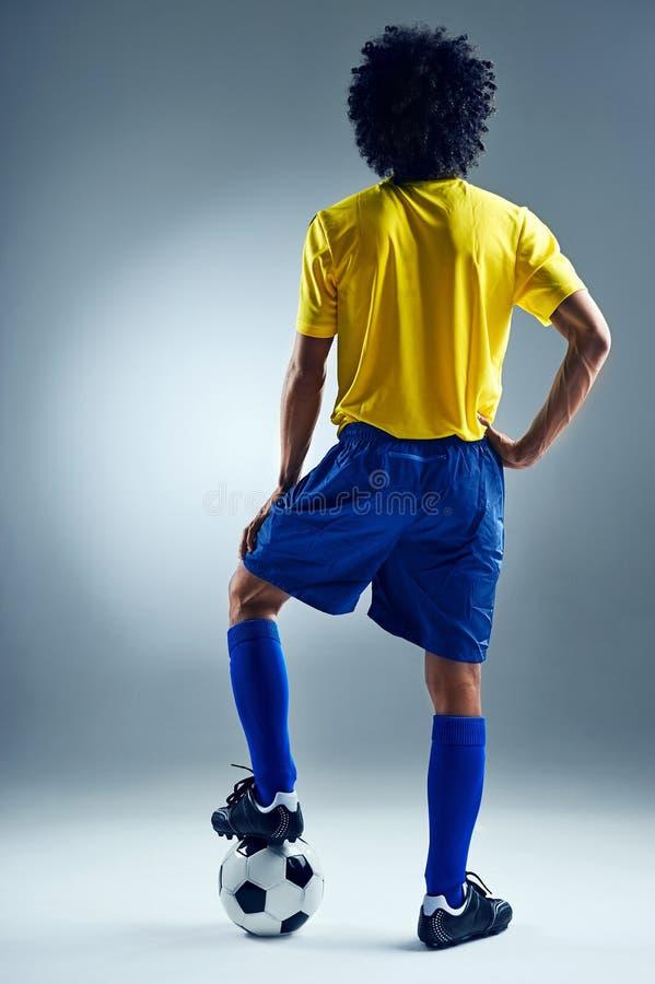 Défi d'homme du football photo libre de droits