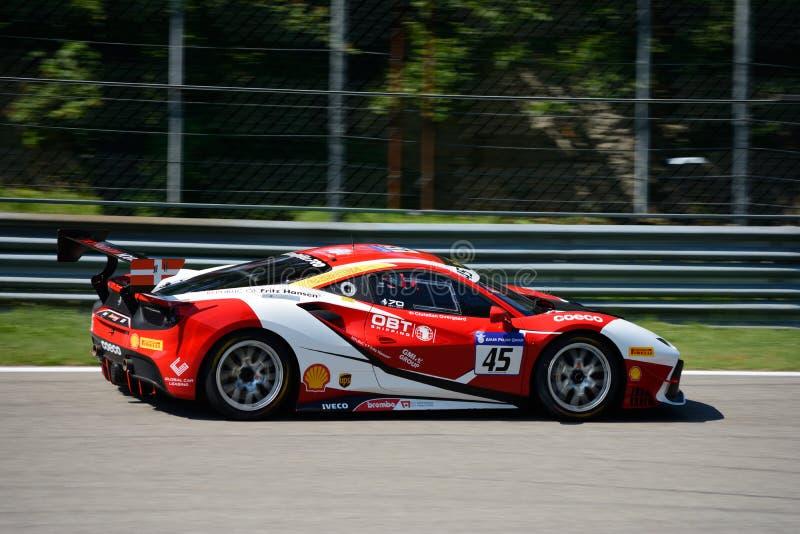 Défi de Baron Service Ferrari 488 photos stock