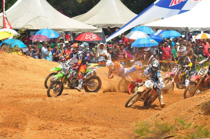 Défi international de motocross de Kemaman | Terengganu | Malaisie images libres de droits
