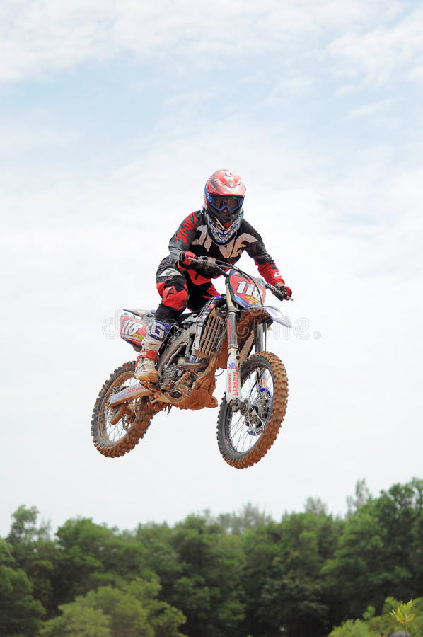 Défi international de motocross de Kemaman | Terengganu | Malaisie photographie stock libre de droits