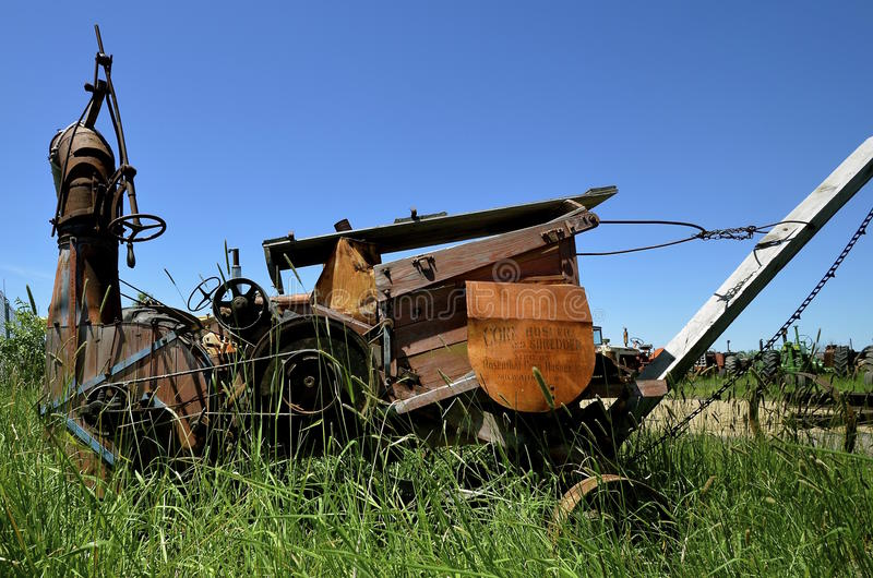 Défibreur de maïs d'antiquité de Rosenthal photo libre de droits