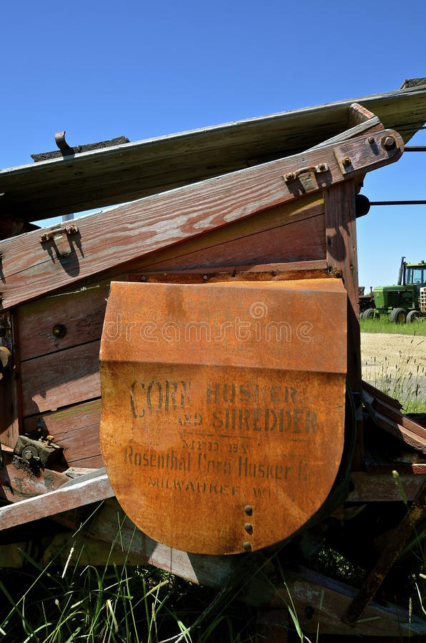 Défibreur de maïs d'antiquité de Rosenthal photo stock