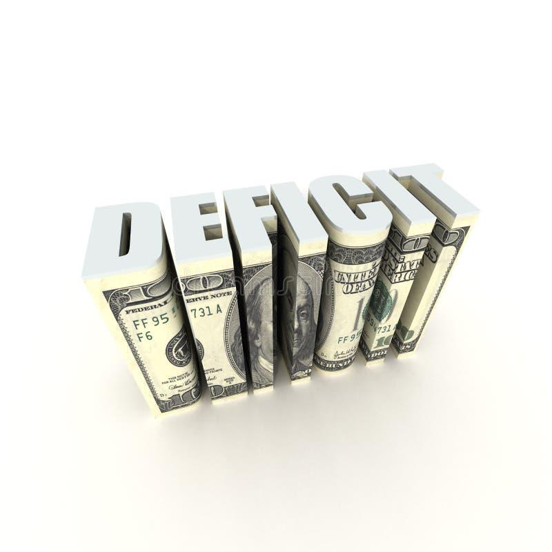 Déficit presupuestario ilustración del vector