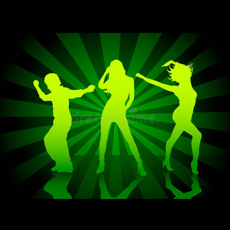 Défilé 1 de danse illustration stock