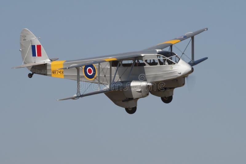 Défilé aérien de Havilland Dragon Rapide image stock