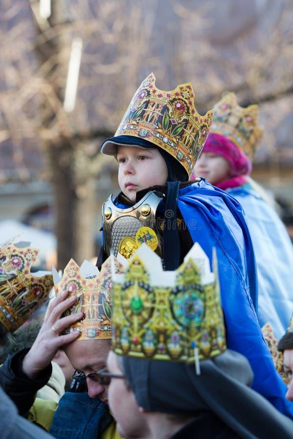 Défilé biblique de sages des Rois mages trois photos stock