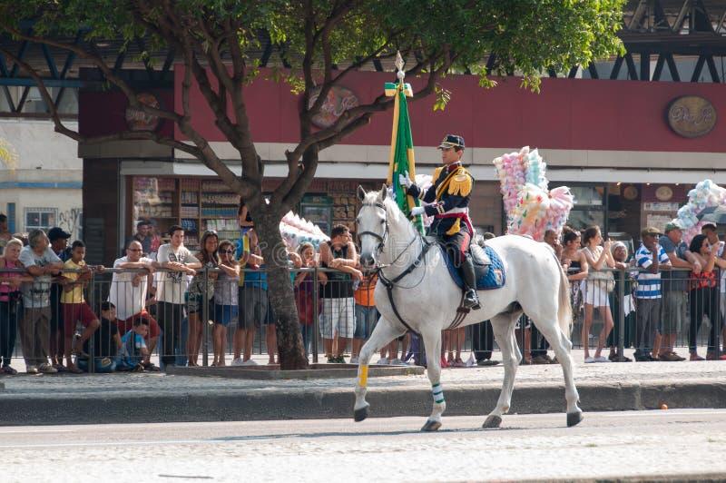 Défilé brésilien de Jour de la Déclaration d'Indépendance photos stock