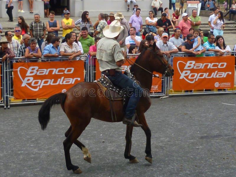Défilé Costa Rica de cheval photographie stock
