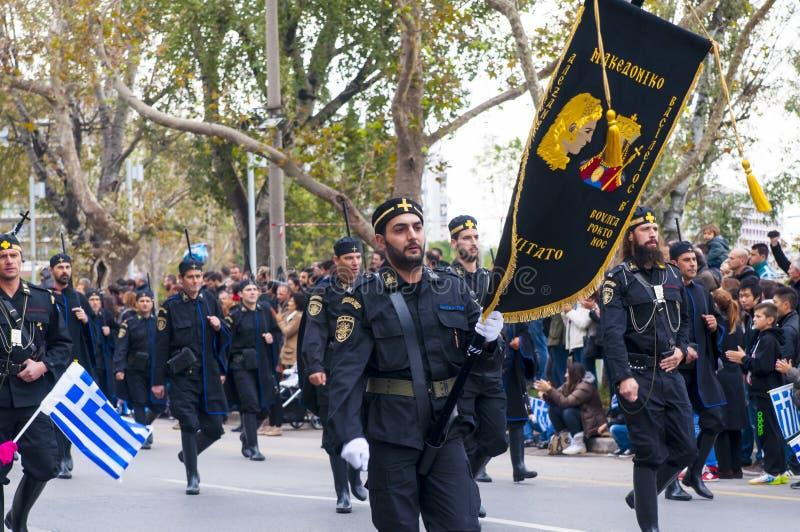 Défilé d'Ohi Day à Salonique photographie stock
