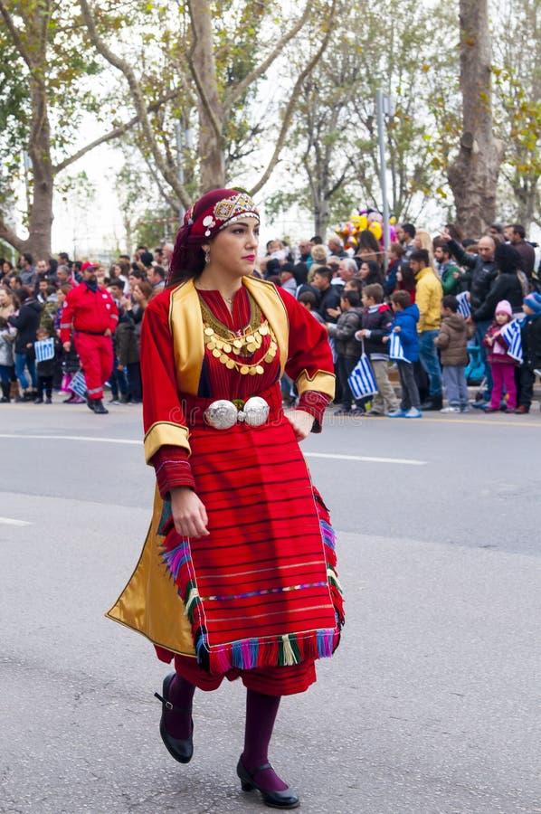 Défilé d'Ohi Day à Salonique images libres de droits