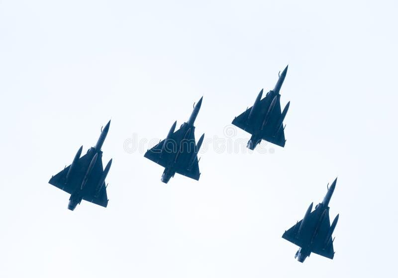 Défilé d'Ohi Day de technologie militaire d'air à Salonique images libres de droits