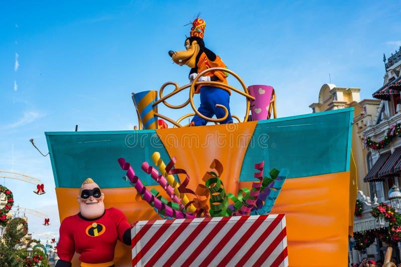 Défilé dans Main Street Etats-Unis au royaume magique, Walt Disney World images stock