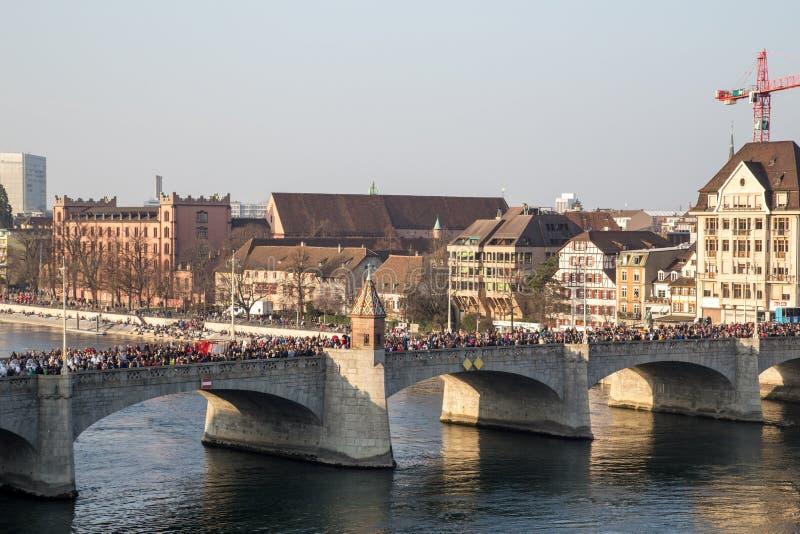 Défilé de carnaval à Bâle, Suisse photo libre de droits