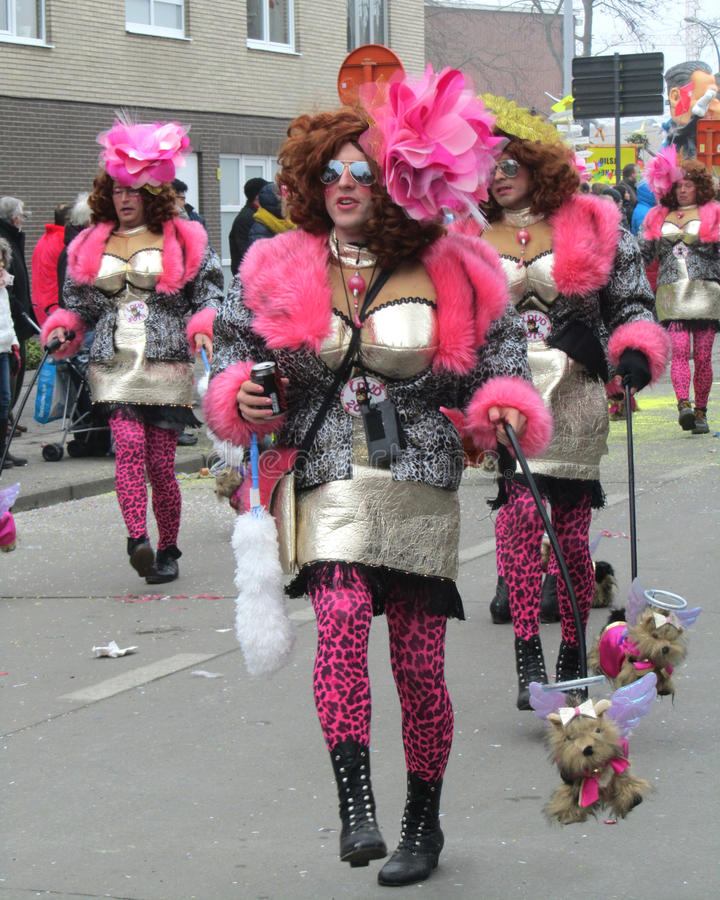 Défilé 2015 de carnaval Aalst photographie stock libre de droits