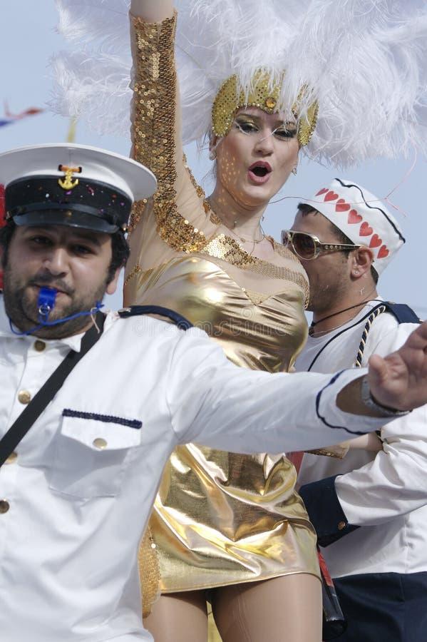 Défilé de carnaval de Limassol - de la Chypre le 14 février photos libres de droits