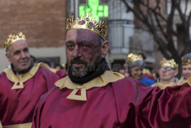 Défilé de carnaval Madrid, le 9 février 2018 l'espagne photographie stock