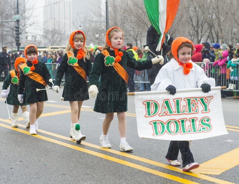 Défilé de Chicago St Patrick image libre de droits