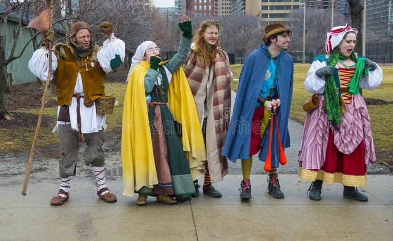 Défilé de Chicago St Patrick photos stock