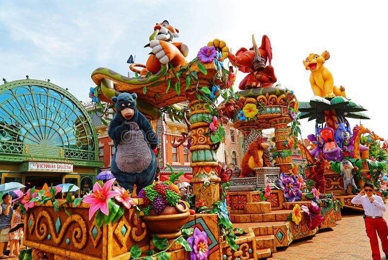 Défilé de Disney de Disneyland, Hong Kong image stock