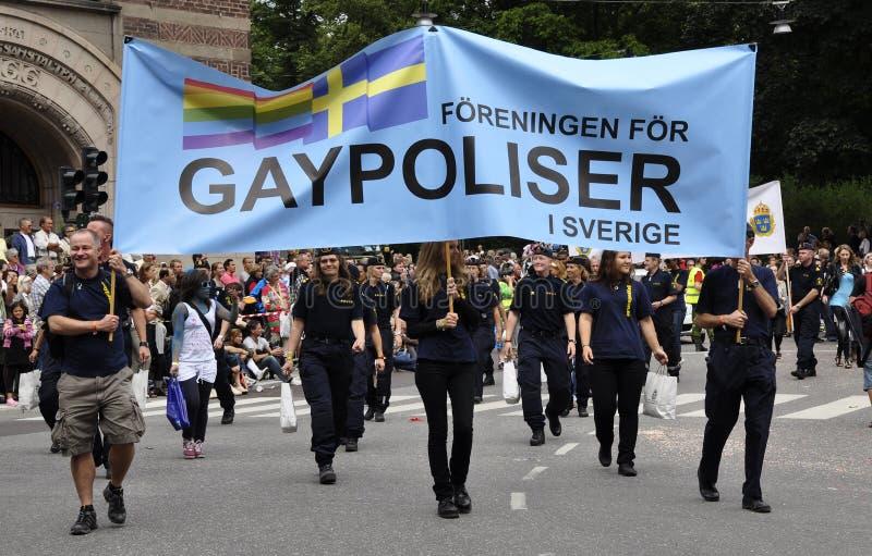 Défilé de fierté de Stockholm image libre de droits