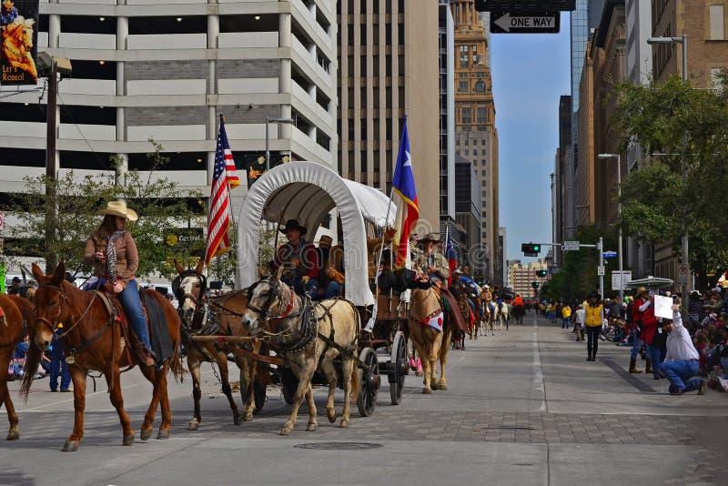 Défilé de Houston Livestock Show et de rodéo photographie stock