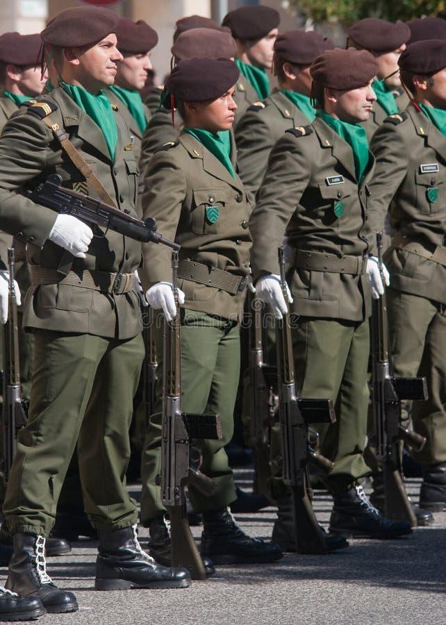 Défilé de jour d'armée d'armée portugaise photo libre de droits