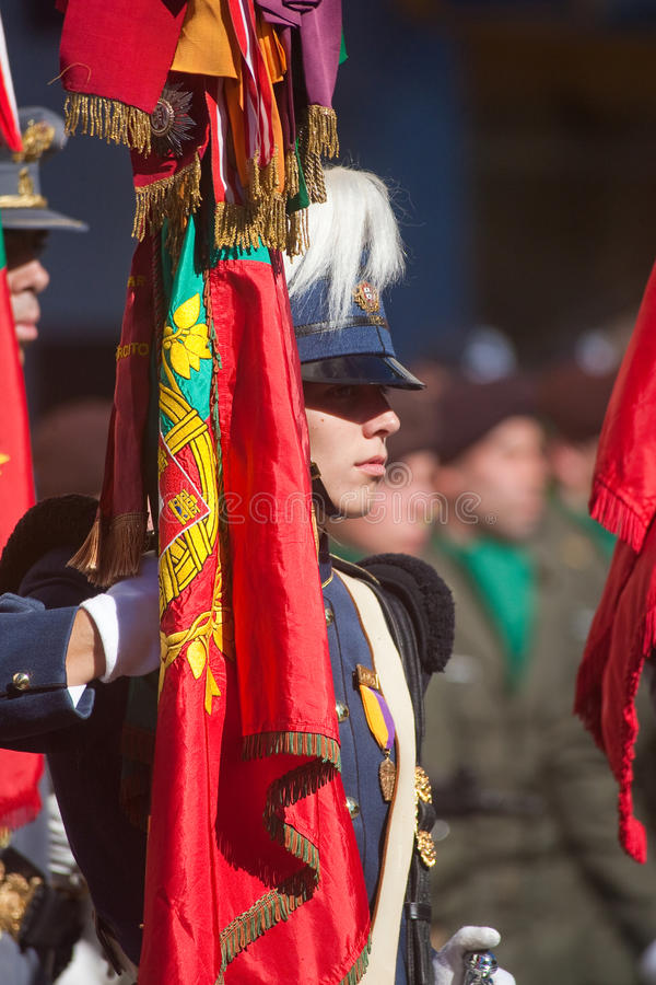 Défilé de jour d'armée d'armée portugaise image libre de droits