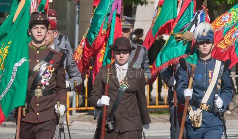 Défilé de jour d'armée d'armée portugaise photo stock